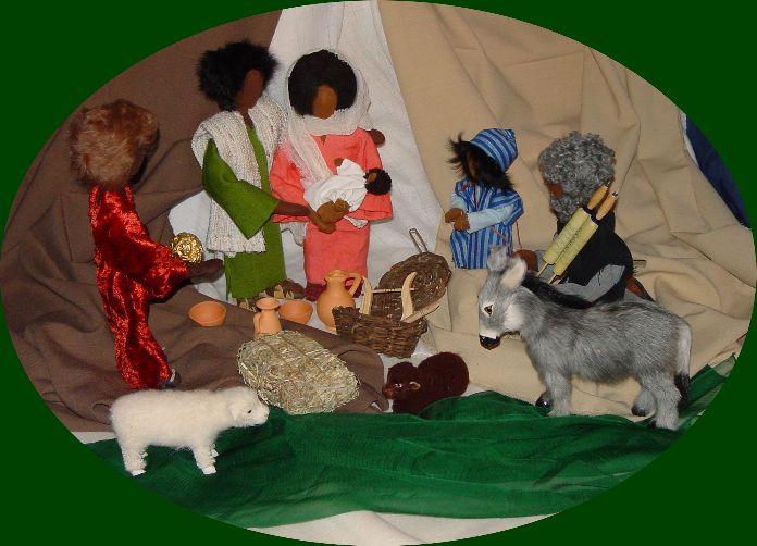 Biblische Figuren - die Weihnachtsszene