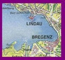 Lake of Constance - Map - Bregenz