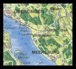 Lake of Constance - Map - Meersburg