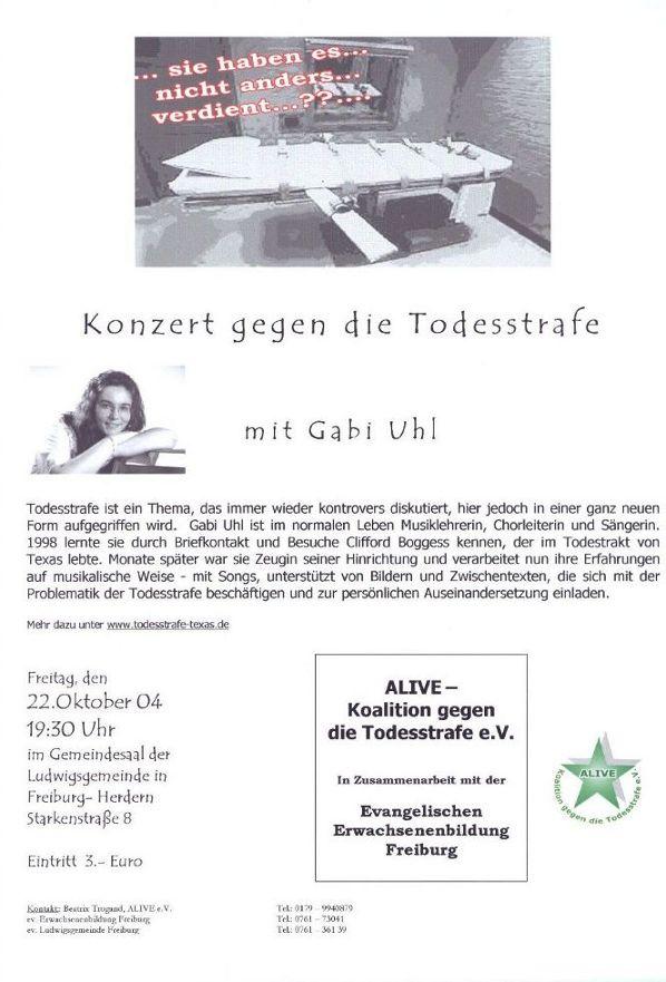 Flyer Konzert Freiburg