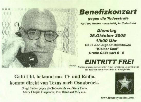 Plakat / Flyer Konzert Osnabrück
