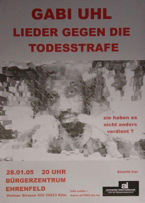 Plakat Konzert Köln