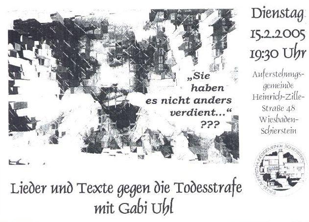 Plakat Konzert Wiesbaden-Schierstein