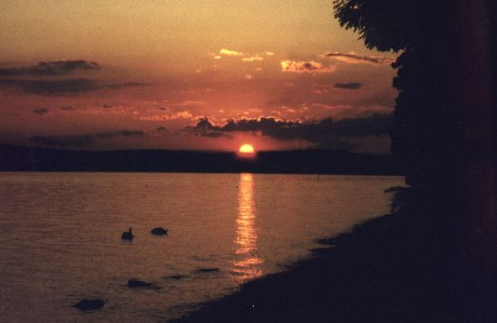 Sunset at the Lake of Constance